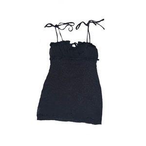 Fab'rik black tie dress w/ cheetah print